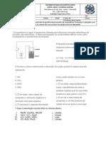 avaliação de quimica 1 ano Tabela periódica