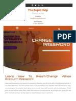how do you change your Yahoo password | password change Yahoo