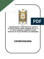 caratula CRONOGRAMA