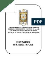 caratula METRADOS - ELECTRICAS