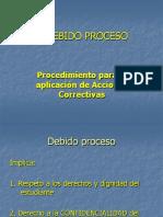 El Debido Proceso y Acciones correctivas MEP