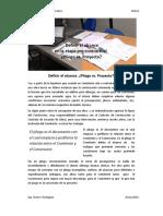 Nota 2 Definir El Alcance. Pliego vs Proyecto