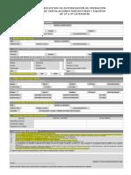Formulario solicitud autorización de operaciones