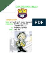 CORRECCION DE LA PRUEBA DIAGNOSTICA DE COMPUTACION