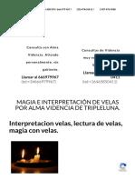 Interpretacion velas, lectura de velas, magia con