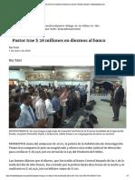 Pastor trae $ 28 millones en diezmos al...Noticias locales | trinidadexpress.com