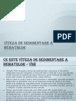 Viteza de Sedimentare a Hematiilor.pptx