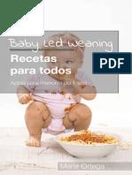 Recetario- Recetas BLW Aptas para menores de 1 ano - Maria Ortega