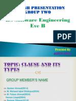 English Presentation Group#2 BSSE Eve B
