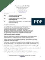 Timothy Pasch Web CV Dec 4 2010 Optimized