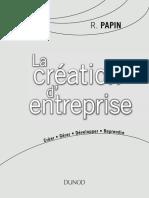 La création d' entreprise.