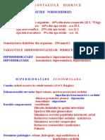 Dishomeostazii Hidrice