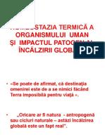 HOMEOSTAZIA TERMICĂ A ORGANISMULUI UMAN