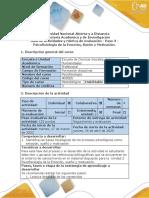Guía de actividades y rúbrica de evaluación - Paso 3 - Psicofisiología de la Emoción, Sueño y Motivación