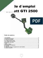 Mode d Emploi Garrett GTI 2500