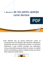 1. Factorii de risc in aparitia cariei dentare (part 2)