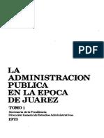 La administración pública en la época de Juárez
