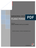 Memoria Descriptiva JORGE RAMIRO
