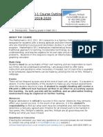 math 30-1 - course outline 2019-2020