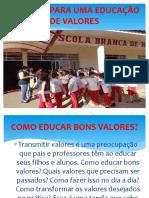 EDUCAÇÃO DE VALORES - Cópia