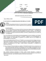 ONDENANZA MUNICIPAL DE JAEN-REGLAMENTO DE ELECCIONES