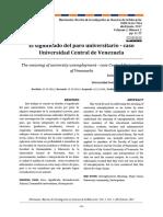 El significado del paro universitario - caso Universidad Central de Venezuela