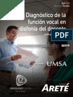 Diagnóstico de la Función Vocal en Disfonía Docente