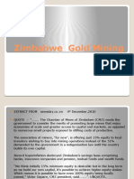 Zimbabwe Gold Mining and Base Metal Opportunities