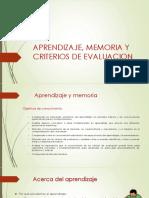 APRENDIZAJE, MEMORIA Y CRITERIOS DE EVALUACION