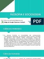 Filosofia e Sociologia - Aula 01 (3º ANO)