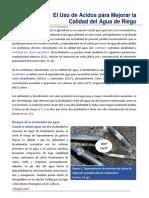 18. El Uso de Acidos para Mejorar la Calidad del Agua