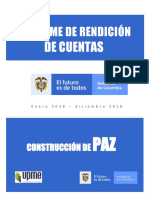 Informe Rendicion Cuentas Paz Ene a Dic 2018