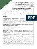ACTA CONFORMACION PAMEC 2018