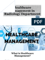 Healthcare Management in Radiology Department