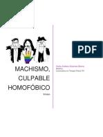Machismo, culpable homofóbico