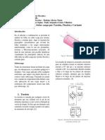 Informe sobre carga por torsión, flexión y cortante puro