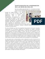 Producto 9. El Proyecto Educativo de La Modernizacion