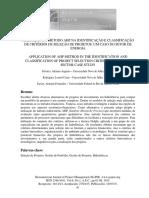 APLICAÇÃO DO METODO AHP NA IDENTIFICAÇÃO E CLASSIFICAÇÃO DE CRITERIOS DE SELEÇÃO DE PROJETOS - UM CASO DO SETOR DE ENERGIA