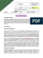 GUIA 2 LA VIOLENCIA GENERALIDADES