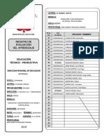 Registro De Evaluación 2019 - MODULO II