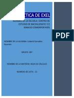 PRACTICA DE EXEL