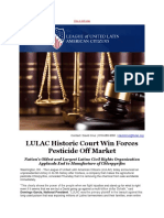 LULAC Historic Court Win Forces Pesticide Off Market