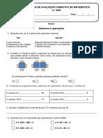 DEFINITIVA - FICHA DE AVALIAÇÃO SUMATIVA DE MATEMÁTICA