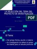 La selección del tema de investigación  (1)