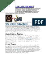 Today Match Prediction Cape Cobras vs Lions-converted