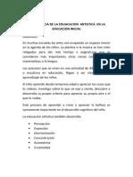 IMPORTANCIA DE LA EDUACACION  ARTISTICA  EN LA EDUCACION INICIAL