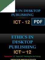 ICT 12- ETHICS IN DESKTOP PUBLISHING