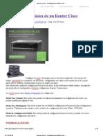 Gastoncracia - Configuración Básica de un Router Cisco