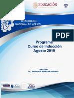 Programa Curso de Inducción 2019