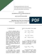 RELATÓRIO DE FISICO-QUÍMICA EXPERIMENTAL I - DETERMINAÇÃO DE CALORES DE REAÇÃO E APLICAÇÃO DA LEI DE HESS